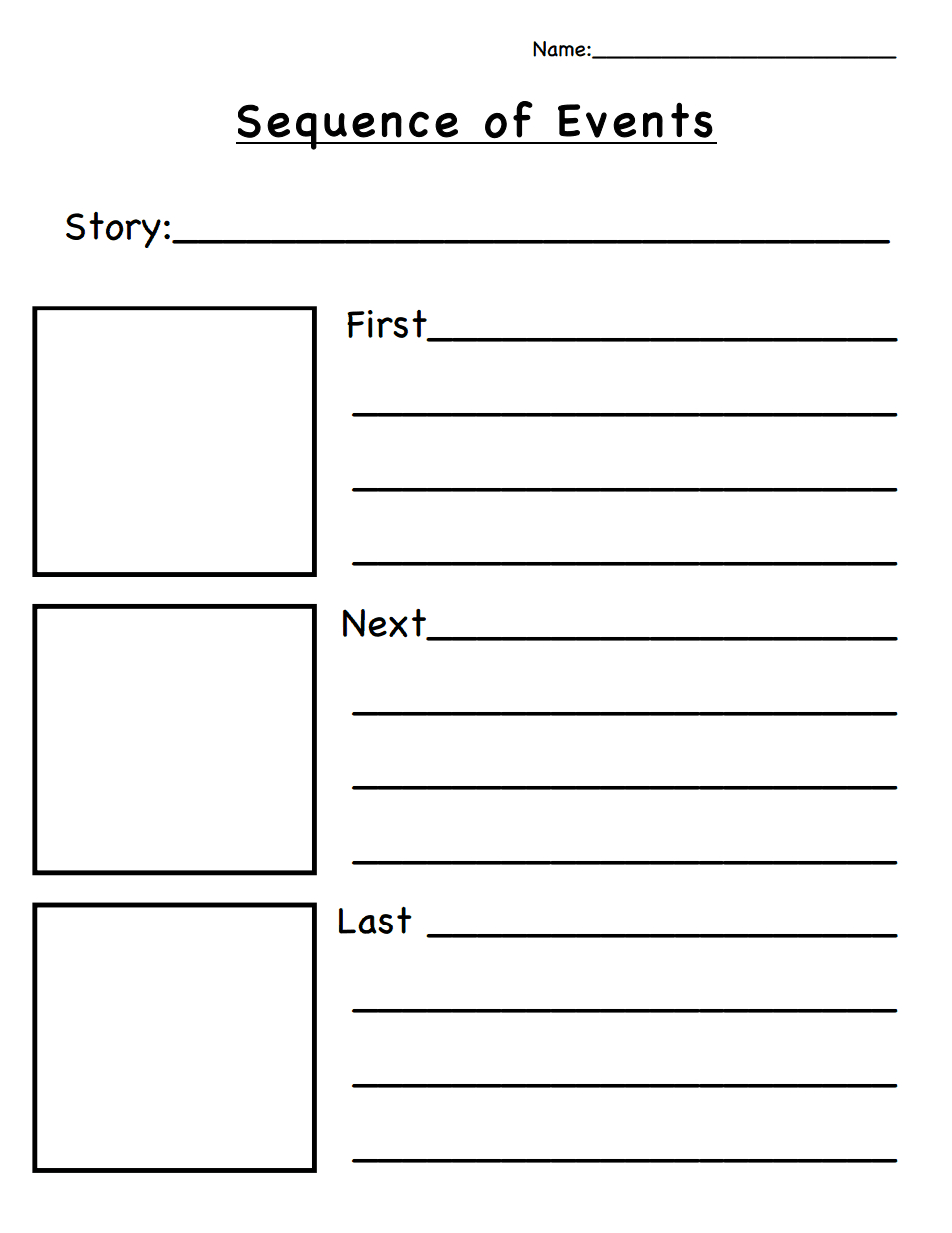 Sequence Of Events.pdf | Classroom Ideas | Sequencing Worksheets | Free Printable Sequencing Worksheets 2Nd Grade