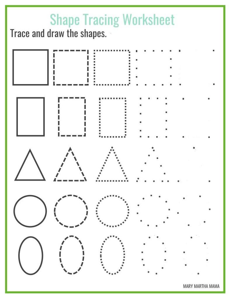Shapes Worksheets For Preschool [Free Printables] – Mary Martha Mama | Printable Shapes Worksheets