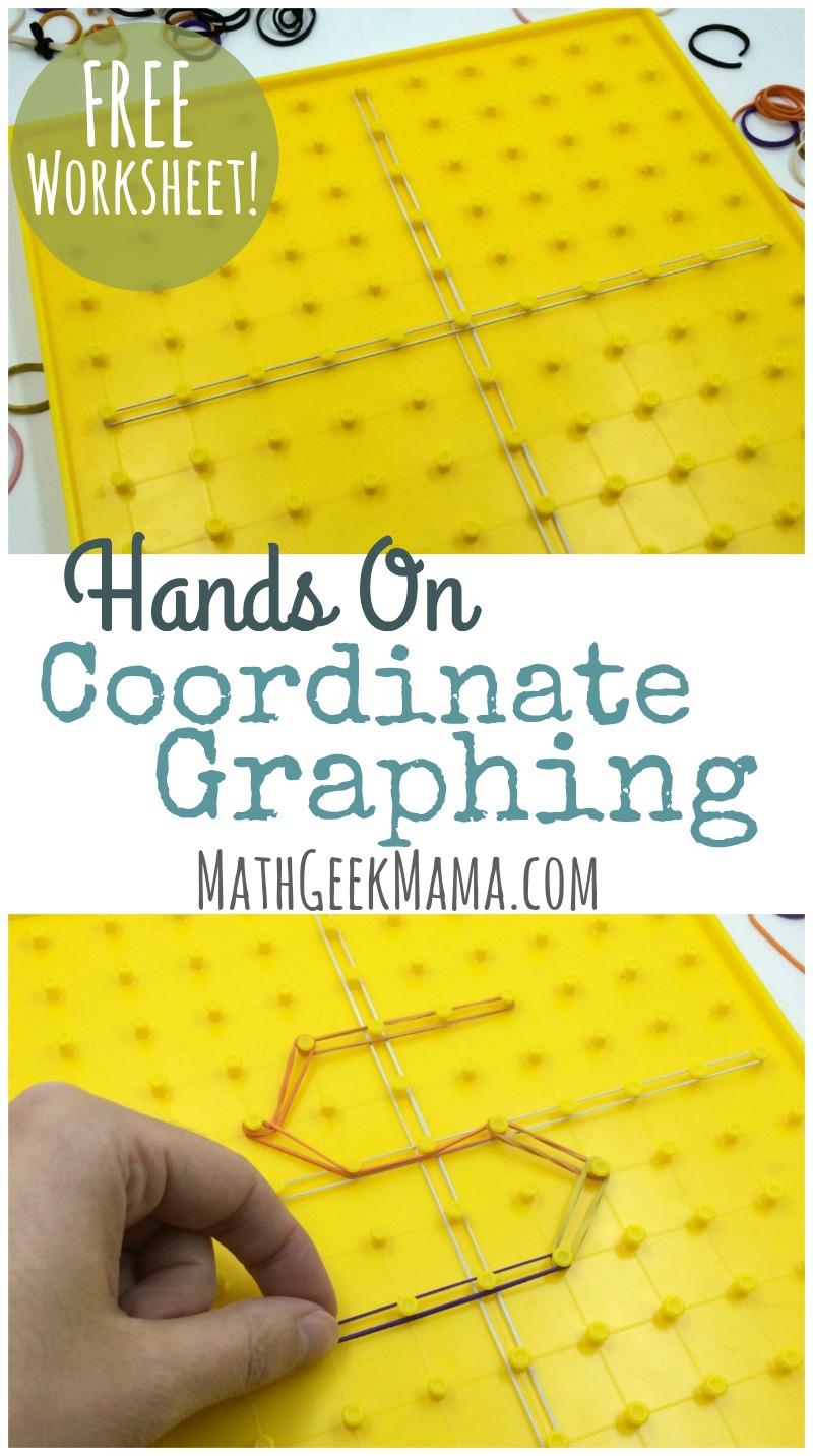 Simple, Hands On Coordinate Graphing Worksheet {Free Printable} | Geoboard Printable Worksheets