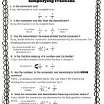 Simplifying Fractions Worksheet And Template   Free Printable Simplifying Fractions Worksheets