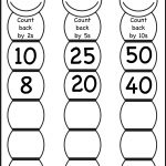 Skip Counting – Count Back2, 5 And 10 – Worksheet / Free | Free Printable Skip Counting Worksheets