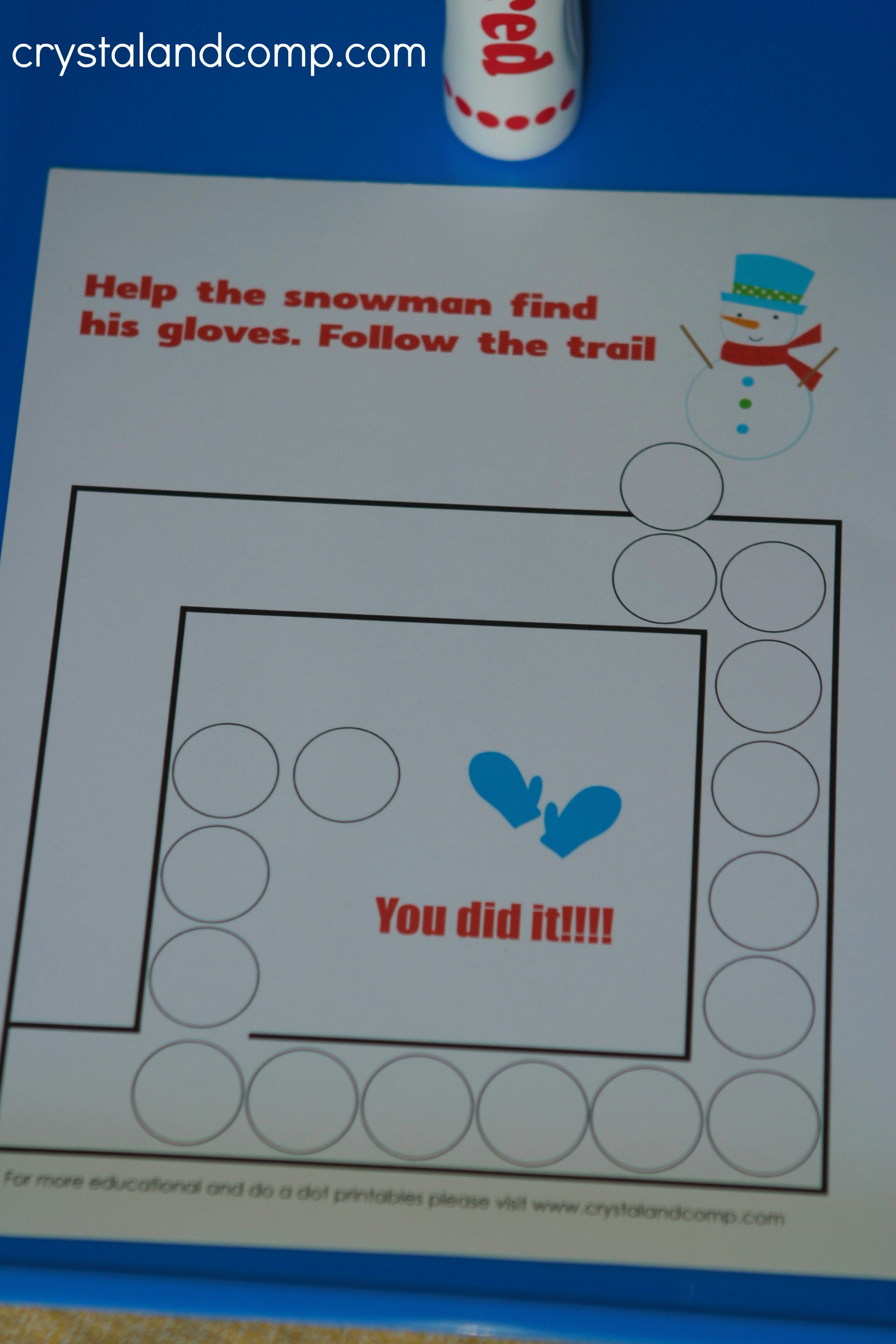 Snowman Do A Dot Printables For Preschoolers | Crystalandcomp | Snowman Worksheet Printables