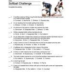 Softball Word Search, Vocabulary, Crossword And More | Softball Worksheets Printable