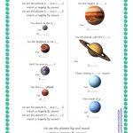 Song For Kids: Planets / Solar System Song Worksheet   Free Esl | Free Printable Solar System Worksheets