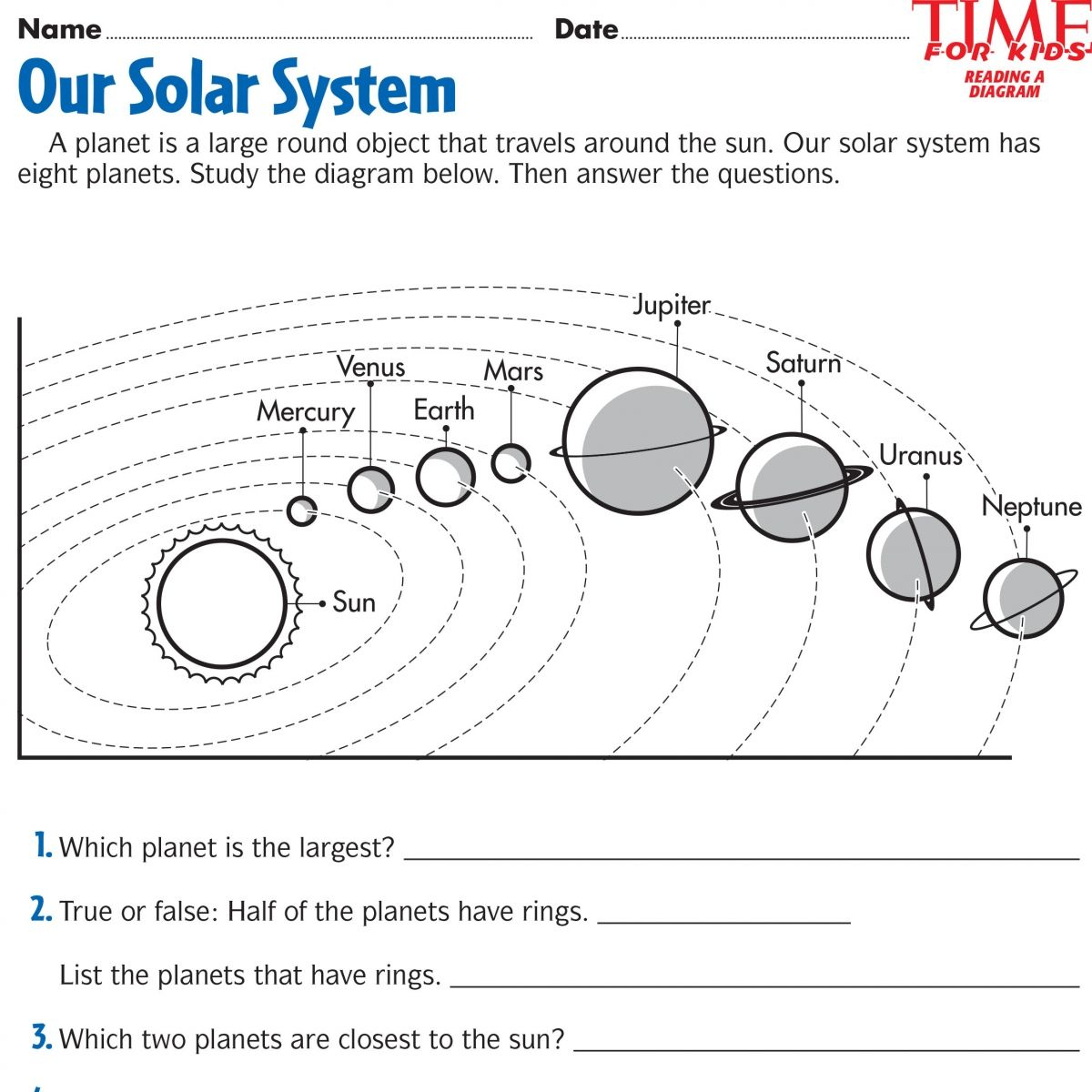 Space Printables | Time For Kids | {Third Grade} | Space Printables | Free Printable Solar System Worksheets