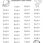 Space Theme   4Th Grade Math Practice Sheets   Multiplication Facts   4Th Grade Printable Multiplication Worksheets