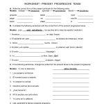 Spanish Worksheets Printables   Present Progressive Worksheet   Printable Spanish Worksheets Answers