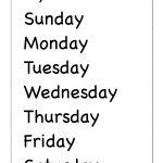 Spelling – Days Of The Week / Free Printable Worksheets – Worksheetfun | Days Of The Week Printable Worksheets