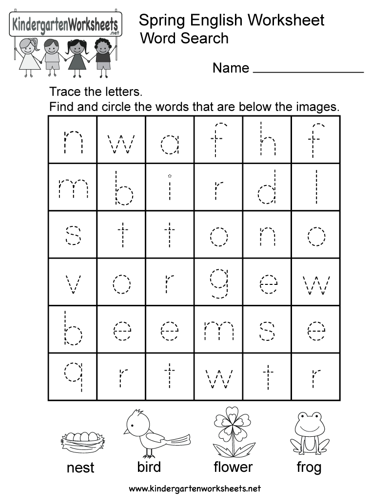 Spring English Worksheet - Free Kindergarten Seasonal Worksheet For | Free Printable Spring Worksheets For Kindergarten
