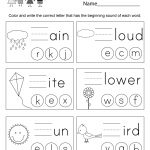 Spring Spelling Worksheet   Free Kindergarten Seasonal Worksheet For | Free Printable Spring Worksheets For Elementary