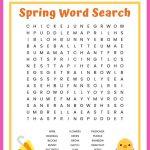 Spring Word Search Free Printable Worksheet For Kids | Butterfly Word Search Printable Worksheets