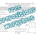 Squarehead Snowman: Prepositions Practice 2 | Squarehead Teachers | Free Printable Worksheets For Prepositions