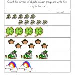 St. Patrick's Day Worksheets: St. Patrick's Day Counting Practice | Free Printable St Patrick Day Worksheets