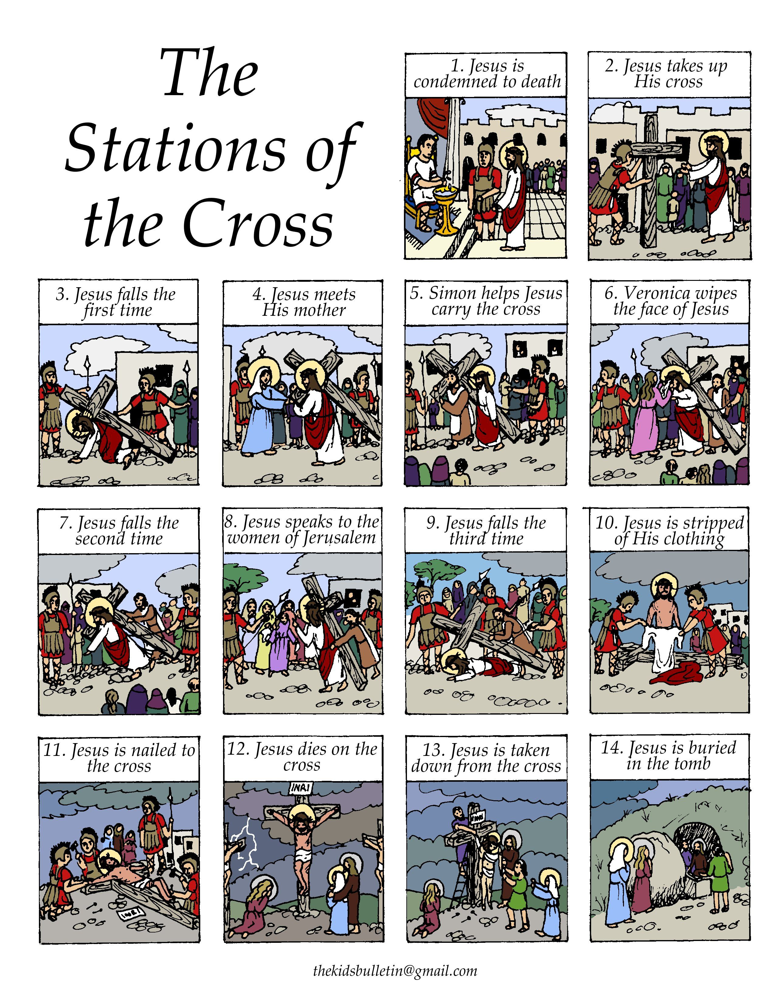 Stations Of The Cross | Lent | Catholic Lent, Religious Education | Stations Of The Cross Printable Worksheets