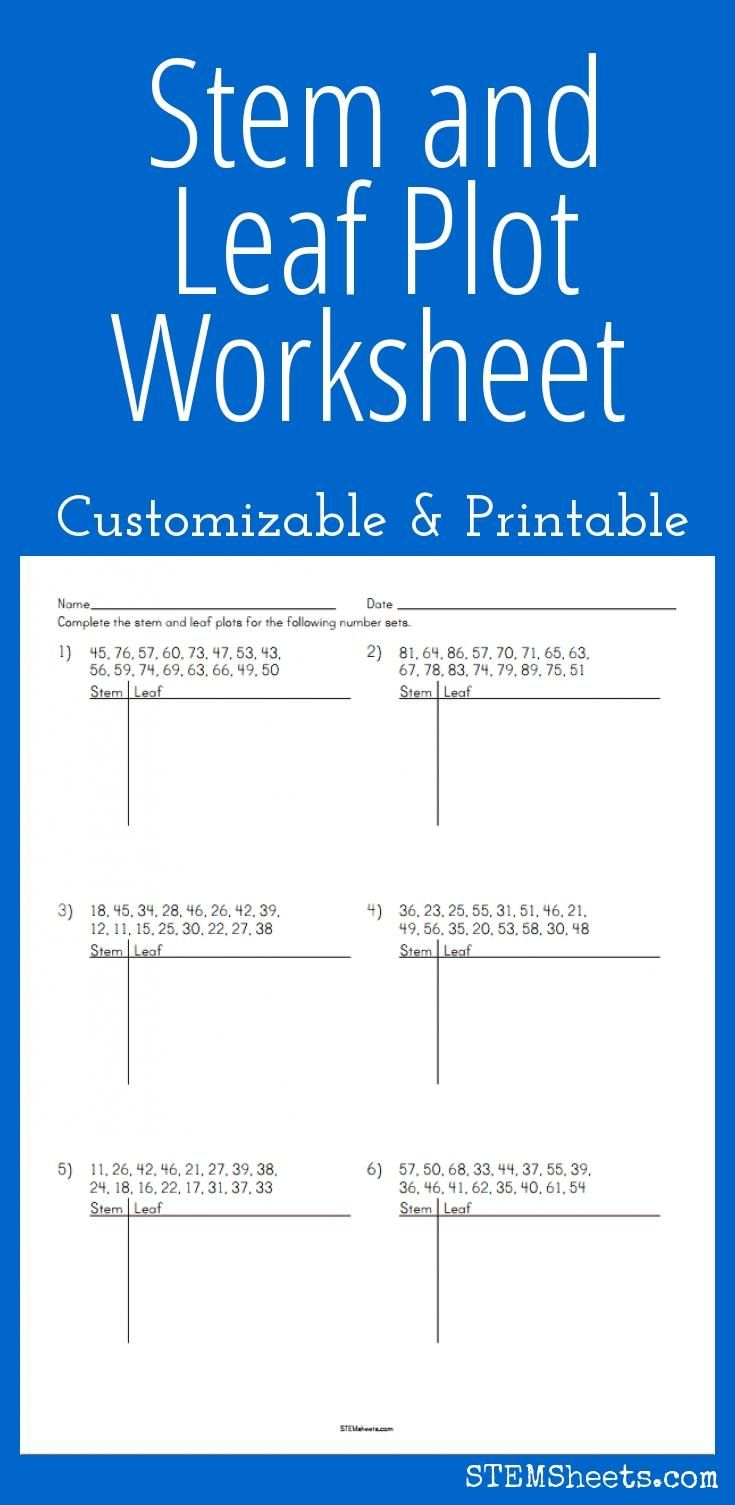 Stem And Leaf Plot Worksheet - Customizable And Printable | Math | Stem And Leaf Plot Printable Worksheets