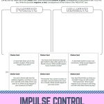 Stop And Think   Elementary School Counseling   Printables And   Impulse Control Worksheets Printable