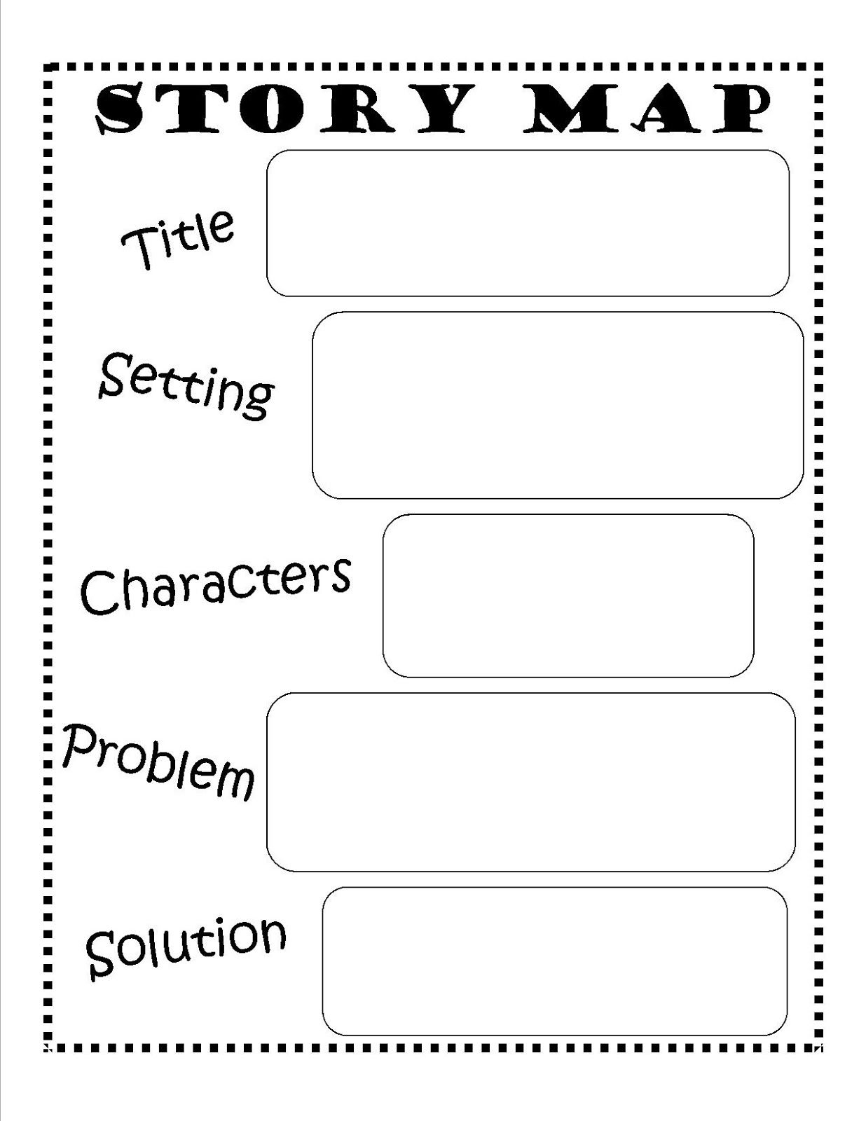 Story Map - Free Printable #reading #writing #kids | Ela | Story Map | Free Printable Story Elements Worksheets