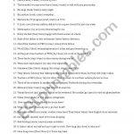 Subject Verb Agreement   Esl Worksheetsothol   Free Printable Subject Verb Agreement Worksheets