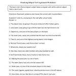Subject Verb Agreement Worksheets   Englishlinx Board   Pronoun   Free Printable Subject Verb Agreement Worksheets