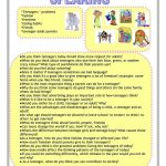 Teenagers Worksheet   Free Esl Printable Worksheets Madeteachers | Printable Worksheets For Teens