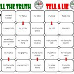 Tell The Truth/tell A Lie Board Game Worksheet   Free Esl Printable | Two Truths And A Lie Worksheet Printable