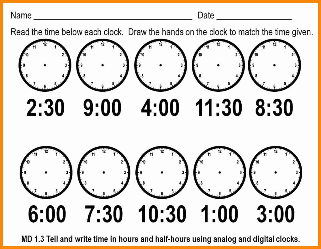 Telling Time Worksheets Printable – Worksheet Template - Free | Free Printable Telling Time Worksheets