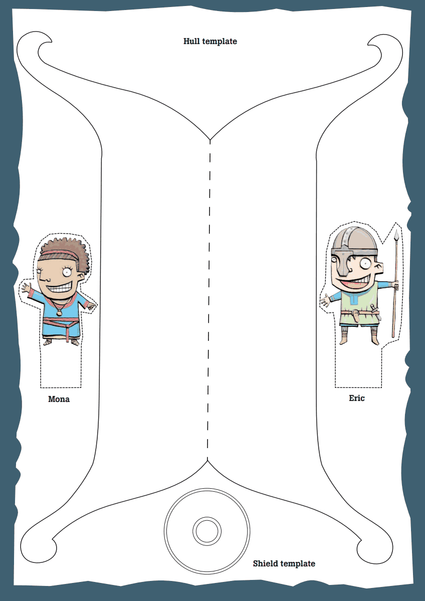 Template For A Viking Ship (Free). Create Your Own Figure Head And | Viking Worksheets Printable