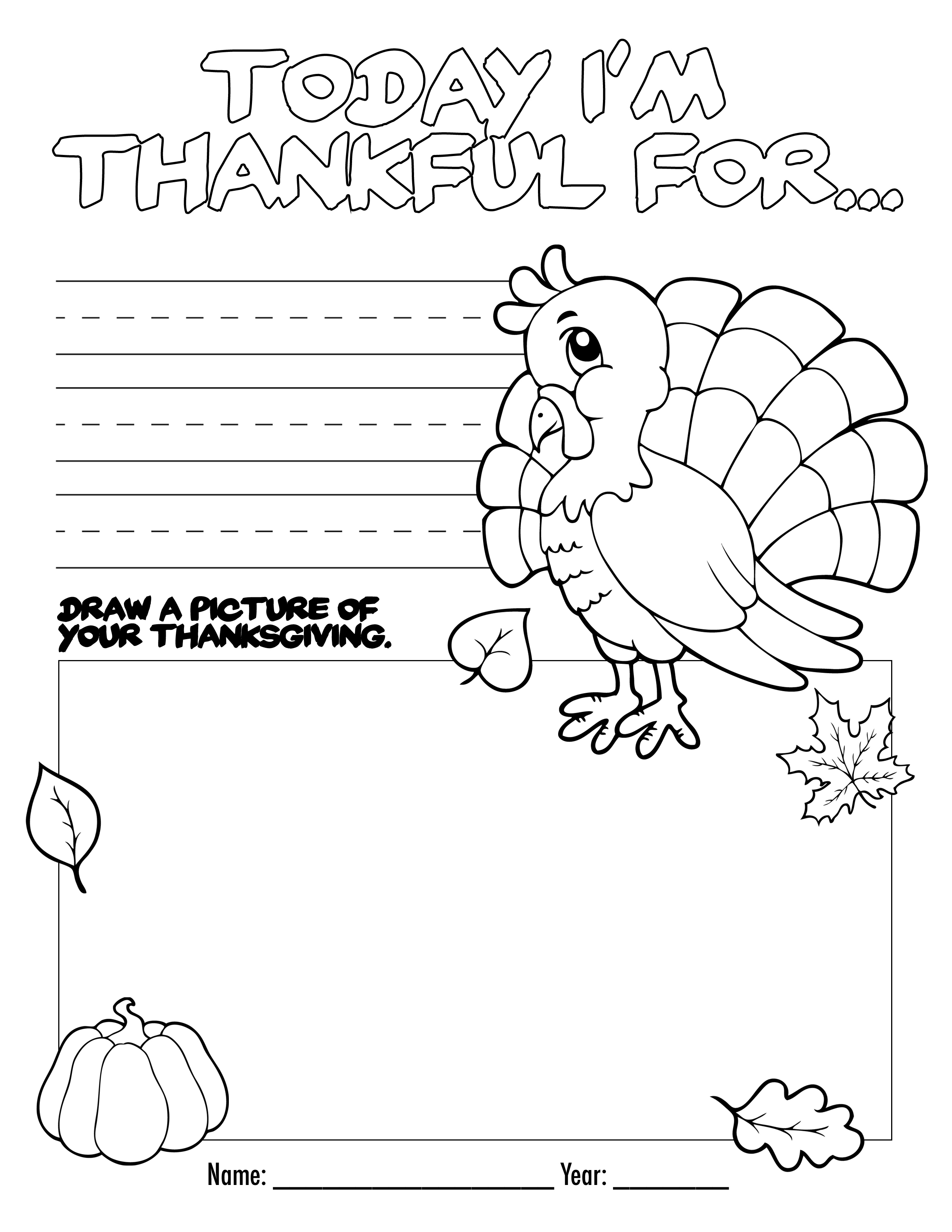 Thanksgiving Coloring Book Free Printable For The Kids! - Free | Free Printable Thanksgiving Worksheets