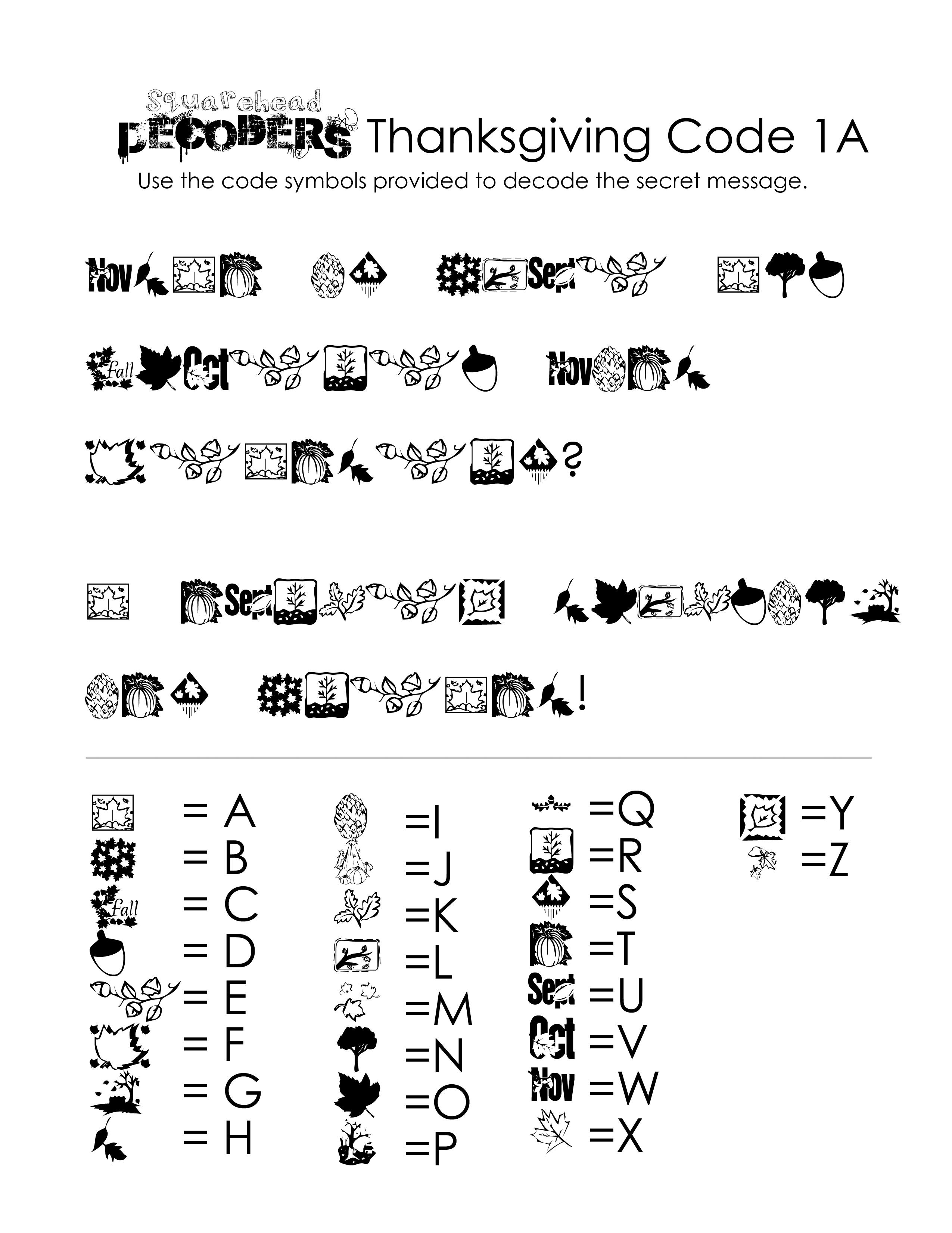 Thanksgiving Decoding Worksheets (Free!)   Squarehead Teachers   Printable Decoding Worksheets