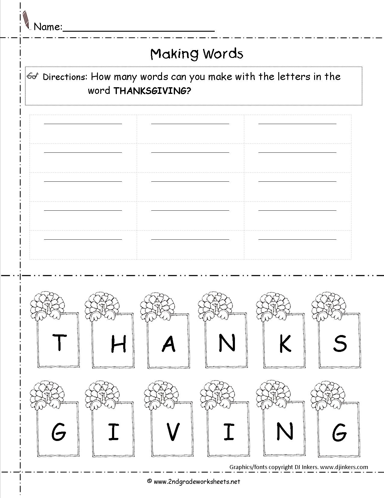 Thanksgiving Printouts And Worksheets - Free Printable Thanksgiving | Free Printable Thanksgiving Worksheets