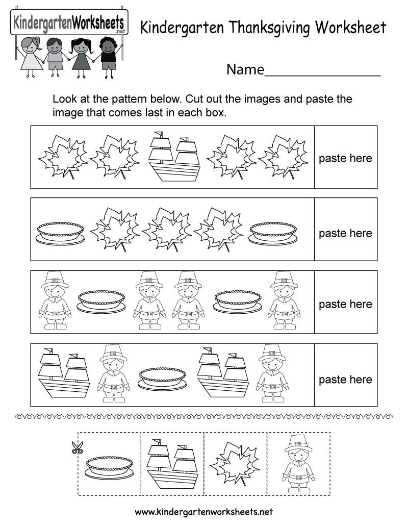 Thanksgiving Worksheet - Free Kindergarten Holiday Worksheet For Kids | Printable Thanksgiving Worksheets Kindergarten