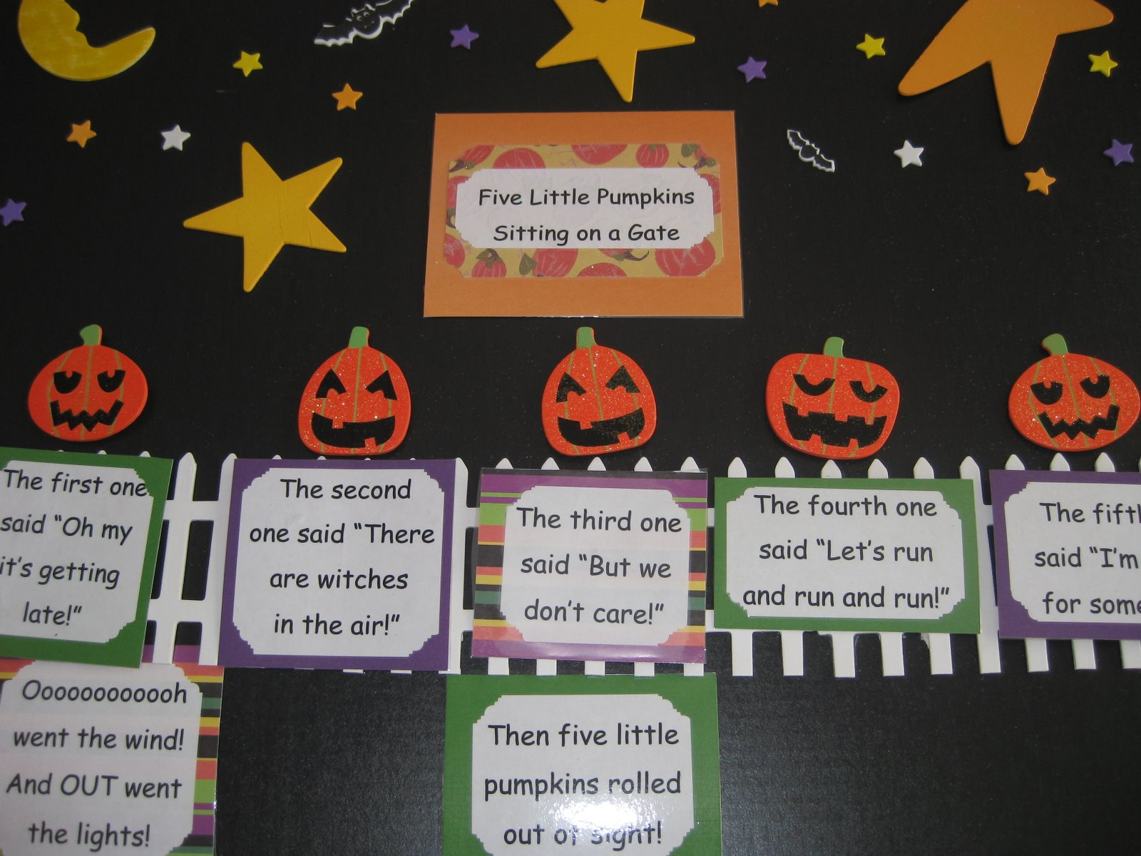 The Alphabet Garden: Five Little Pumpkins! | Five Little Pumpkins Printable Worksheet