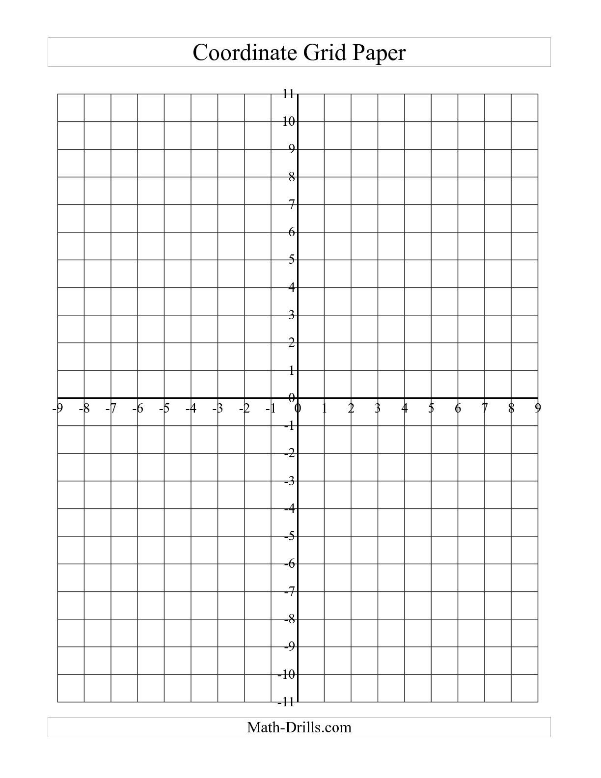 The Coordinate Grid Paper (Large Grid) (A) Math Worksheet From The | Free Printable Coordinate Grid Worksheets