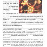 "The Hunger Games"" Open Cloze Worksheet   Free Esl Printable   Hunger   Hunger Games Free Printable Worksheets"