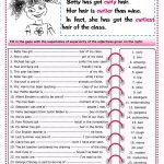 The Superlative Worksheet   Free Esl Printable Worksheets Made | Comparative Worksheets Printable