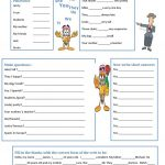The Verb To Be Worksheet   Free Esl Printable Worksheets Made | To Be Worksheets Printable