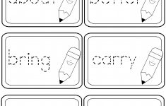 Free Printable First Grade Sight Words Worksheets