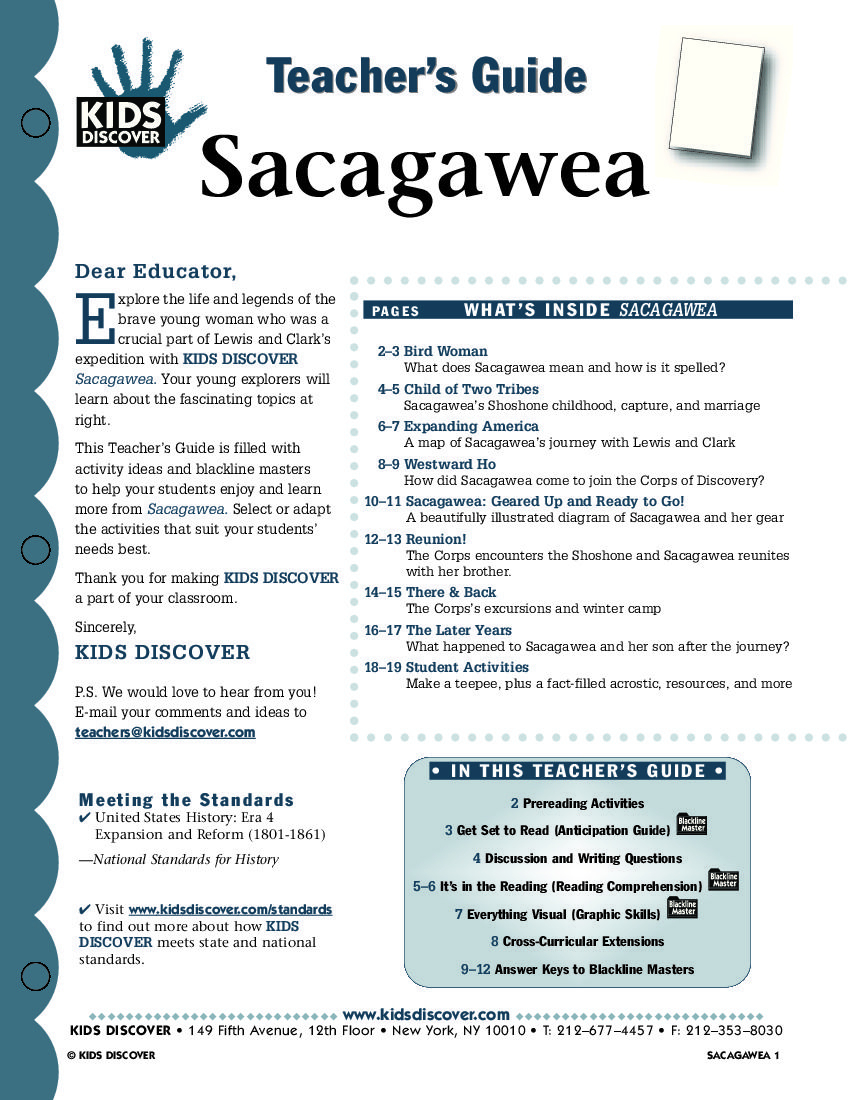 This Free Lesson Plan For Kids Discover Sacagawea Is Packed With | Sacagawea Printable Worksheets