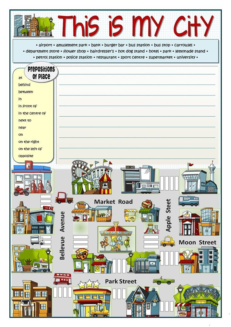 This Is My City Worksheet - Free Esl Printable Worksheets Made | Places In Town Worksheets Printables