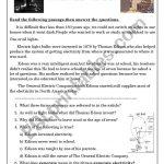 Thomas Edison   Esl Worksheetashraf Amir | Thomas Edison Printable Worksheets