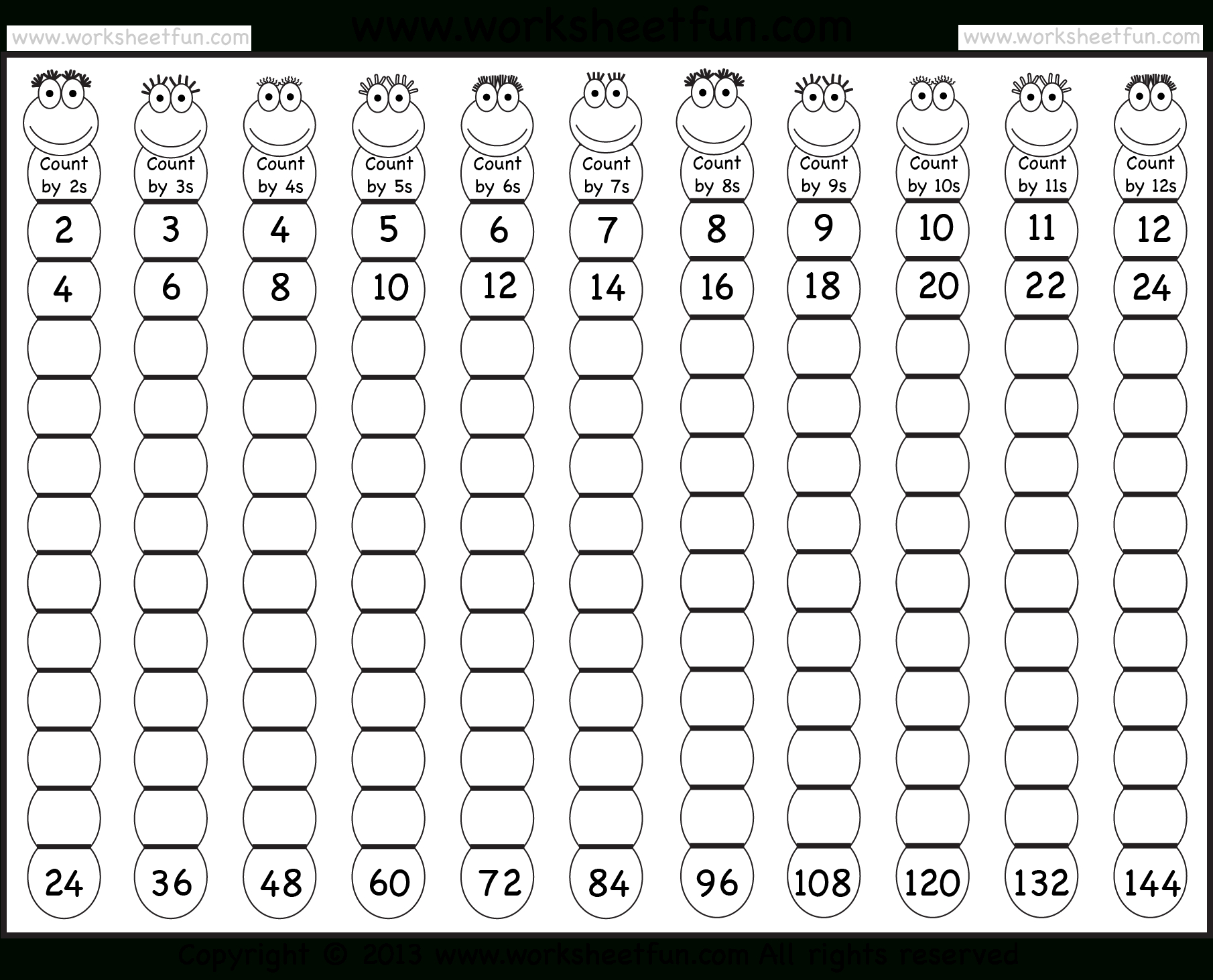 Times Table – 2-12 Worksheets – 1, 2, 3, 4, 5, 6, 7, 8, 9, 10, 11 | Multiplication Worksheets 1 12 Printable