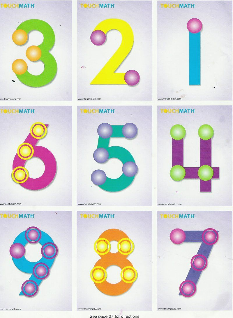 Touch Math - Google Search | Math Touch Point | Touch Math, Chore | Touch Math Printable Worksheets