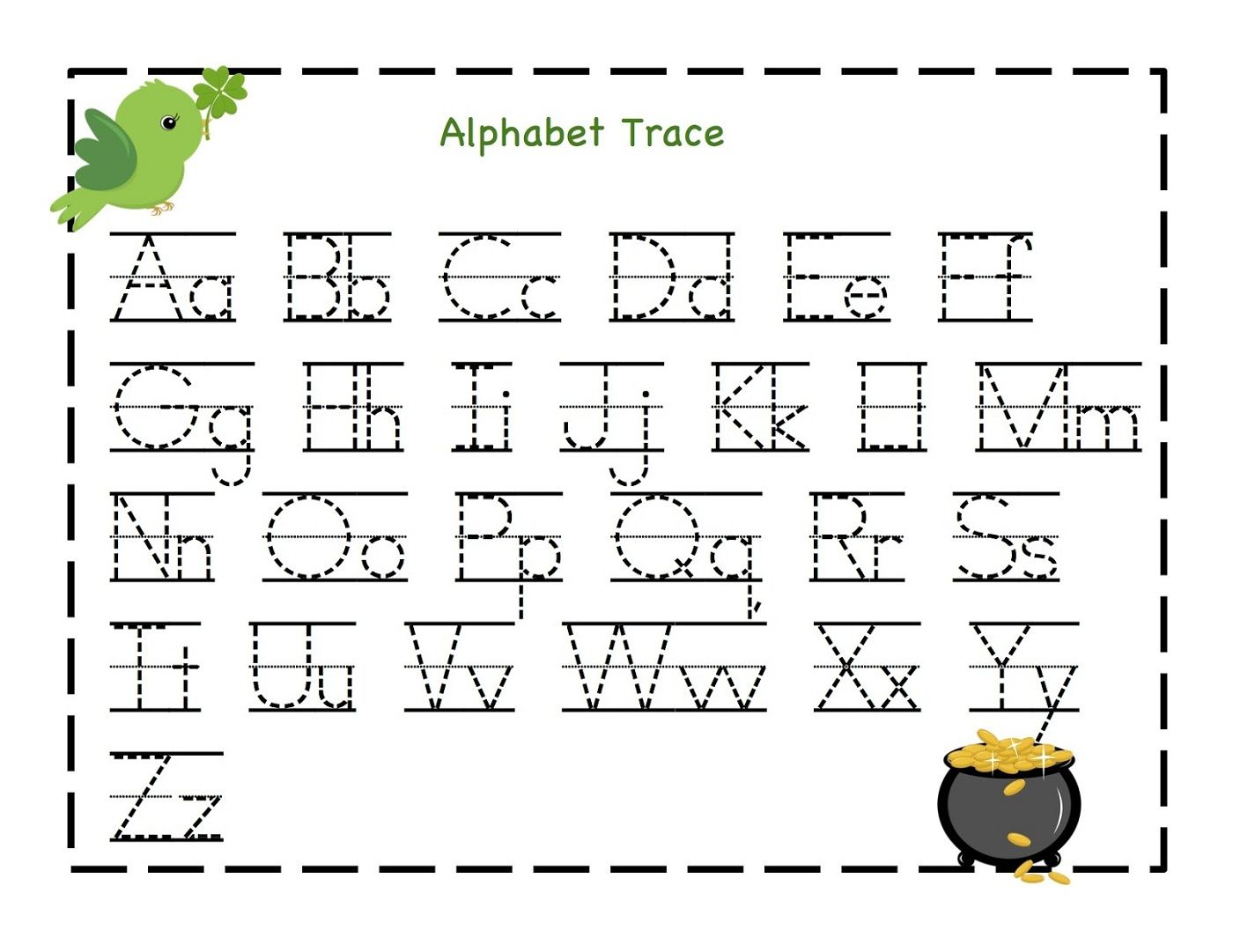 Traceable Letter Worksheets To Print | Schoolwork For Taj And Bre | Traceable Abc Printable Worksheets
