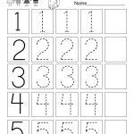 Traceable Numbers Worksheet   Free Kindergarten Math Worksheet For Kids | Numbers Printable Worksheets