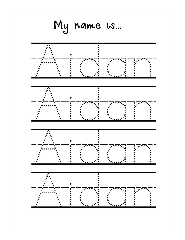 Tracing Name Sheets Handwriting Worksheetsseason Tracing Sheets | Free Printable Name Tracing Worksheets