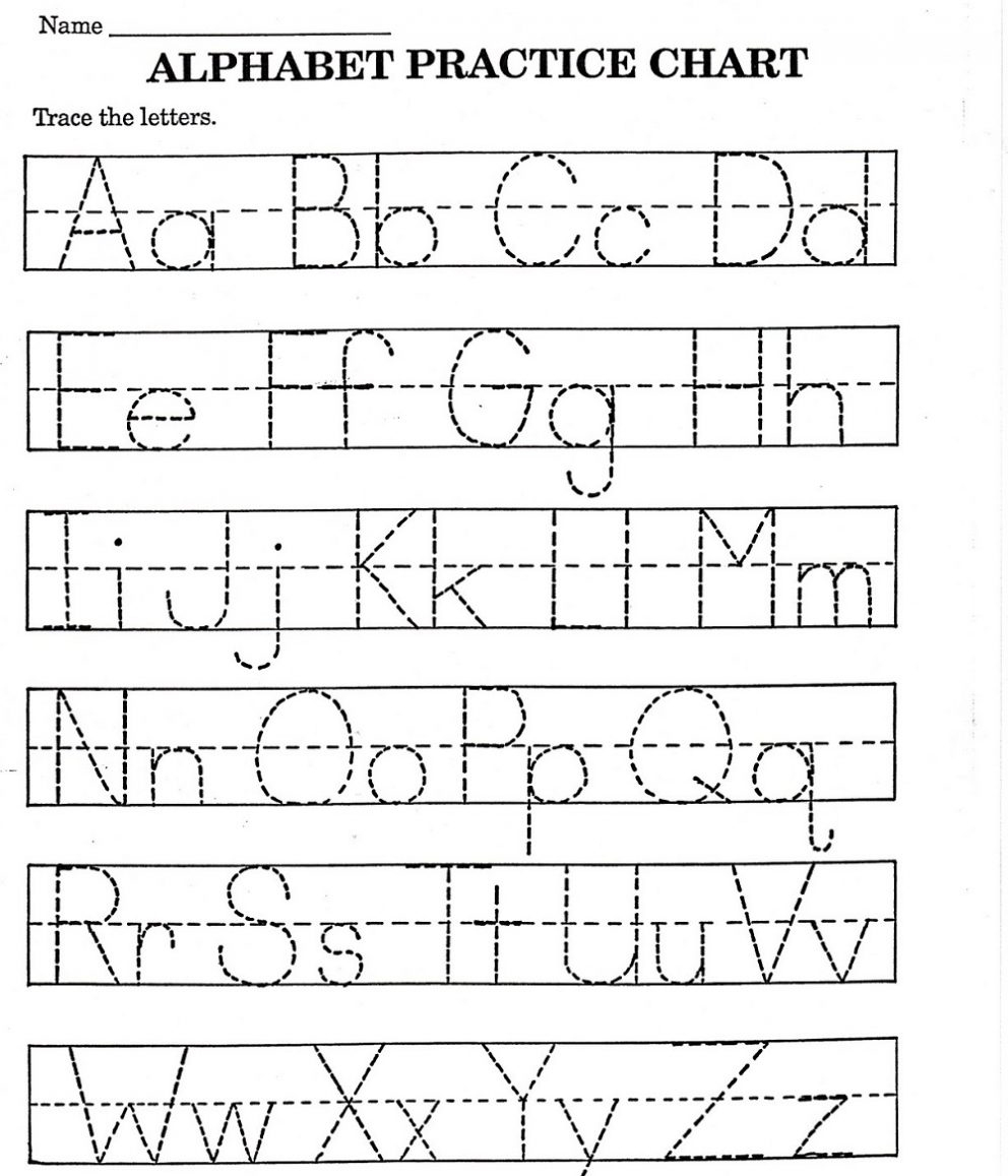 Tracing Papers For Kindergarten - Koran.sticken.co | Free Printable Abc Tracing Worksheets