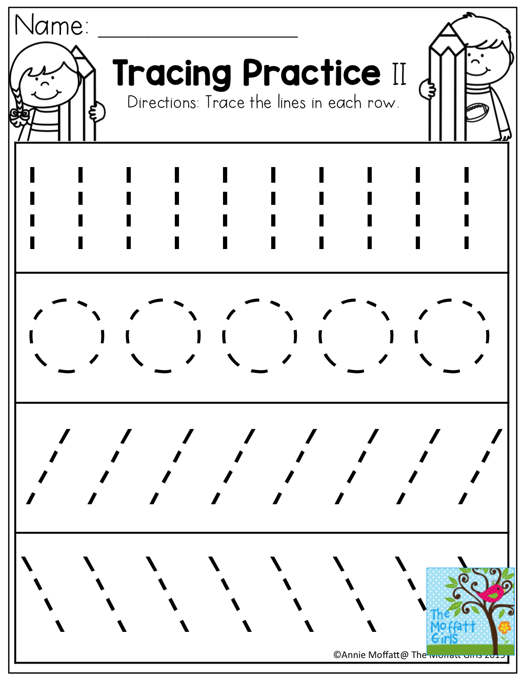 Tracing Practice! Tons Of Printable For Pre-K, Kindergarten, 1St | Printable Tracing Worksheets