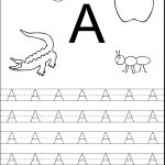 Tracing The Letter A Free Printable | Alphabet And Numbers Learning | Free Printable Letter A Worksheets For Pre K