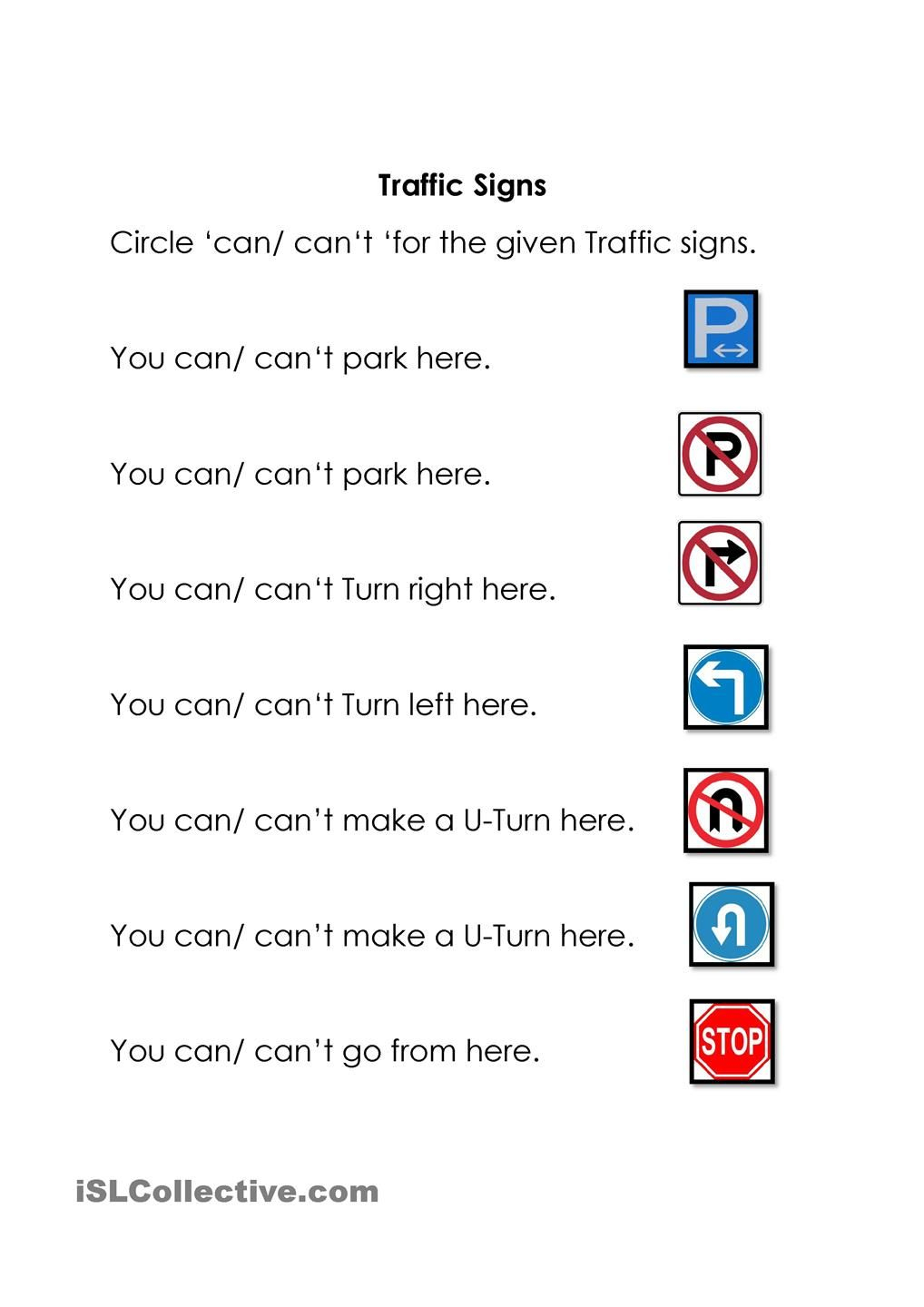 Traffic Signs | Health And Family Life | Construction Signs, Road | Free Printable Traffic Signs Worksheets