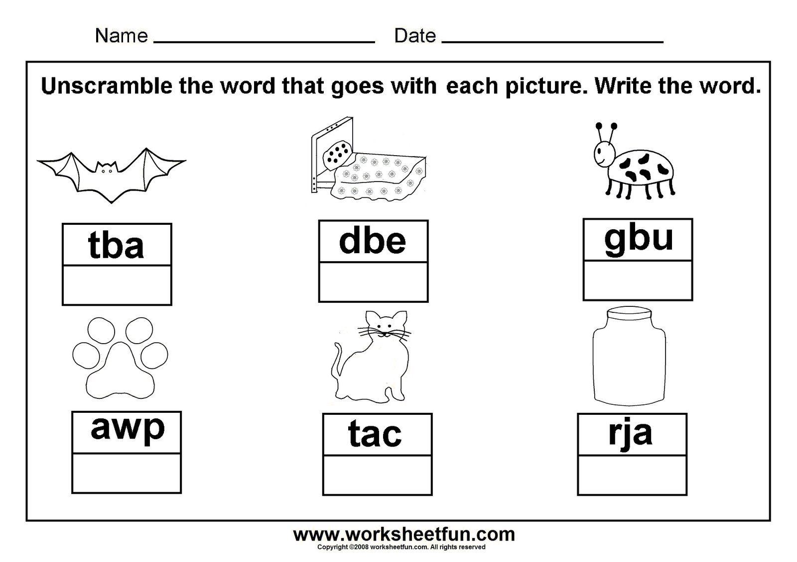Unscramble Cvc Words; Great To Laminate And Put In A Word Work | Cvc Words Worksheets Free Printable